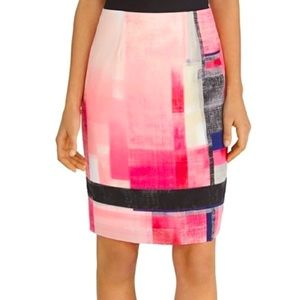 White House Black Market Color Block Pencil Skirt